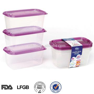 transparent ventilé conteneur plastique alimentaire japonais 1000ml avec trous d'aération
