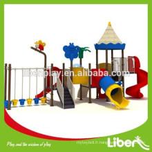Aires de jeux extérieurs pour enfants en plastique en plein air pour les chantiers (LE.NA.003)
