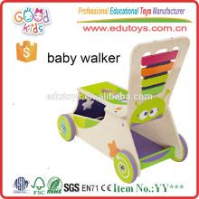 EN71 estándar de gran actividad bebé Walker juguetes, de alta calidad de madera Baby Walker