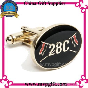Hochwertiger Metallmanschettenknopf mit Kundenlogo