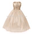 2017 wholesales high quality shimmer fabric sash belt &bow flower girl dress UX679 G