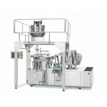Automatic Rotary Rice Vacuum Food Pouch Packaging Machine