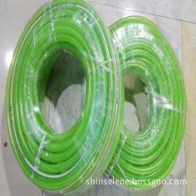 Green PVC reinforced garden hose
