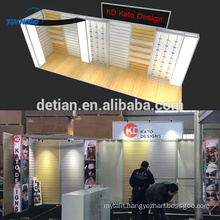 Detian Offer slat wall stand exhibition booth trade show display shelving advertising display