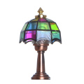 1:12 scale vintage dollhouse table lamp bronze