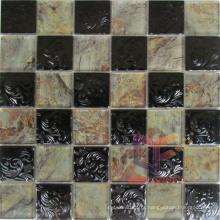Crystal Mix Black Metal Mosaic Tile (CFM863)