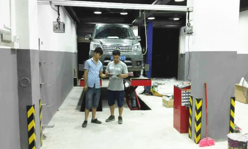 3D Wheel Alignment for Ceiling Installation