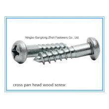 (Acier inoxydable / Acier au carbone) Fendue / Croix / Philip Pan / Vis à bois à tête plate