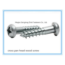 (Stainless Steel/ Carbon Steel) Slotted/ Cross/ Philip Pan/ Flat Head Wood Screw