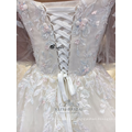 Sexy long sleeve applique flower white dress bride wedding dress 2017 china