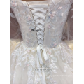 Сексуальная длинные рукава аппликация цветок белый платье невесты свадебное платье 2017 Китай