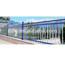 Galvanized coated metal flower wrought cast iron fence / palisade fence(factory)