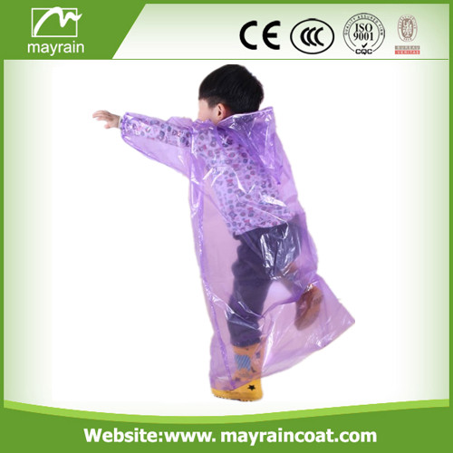 PE Raincoat with Printing