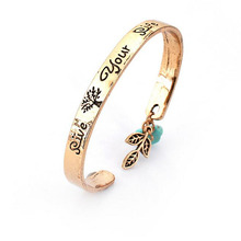 Latest Zinc Alloy Bracelet With English logo Design purple Diamond Bracelet