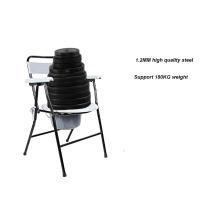 كرسي قابل للطي الصلب مع ﻭﺗﺩﻓﺋﻫ
