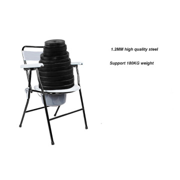 Foldable Steel Chair with Bedpan