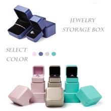 Pu Leather Jewelry Box Portable Organizer Storage Case