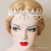 Gets.com Estilo Gótico Enamel Rhinestone Pretty Lace Faixa de Cabelo