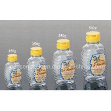 500g não-gotejamento plástico pet garrafa de mel com tampão de válvula de silicone (PPC-PHB-01)
