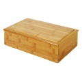 Custom bamboo caddy wooden jewellery gift box