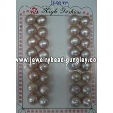 Mitad perforado perla grado AAA 11mm, púrpura