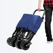 4 Wheels Foldable Trolley Cart with Removable Canopy
