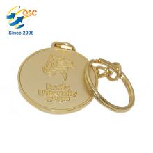 Высокое Качество Изготовленный На Заказ Промотирования Логоса Keychain Монетки Металла