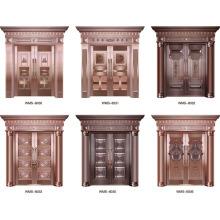 Mais recente design preço mais barato porta de cobre exterior