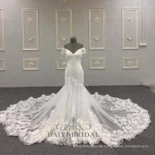 Sexy Meerjungfrau Hochzeit Kleid wirklich Probe