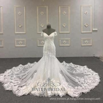 Sexy sereia vestido de noiva realmente amostra