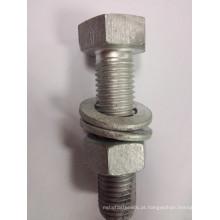 8.8 grau de imersão a quente aço galvanizado porca / parafuso de aço