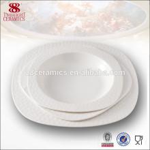 nuevo cuenco de sopa profundo del vajilla del diseño agradable de la porcelana de hueso