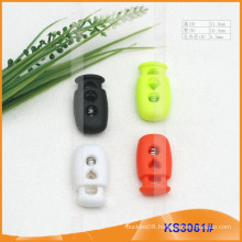 Nylon cord stopper or toggle for garments,handbags and shoes KS3061#