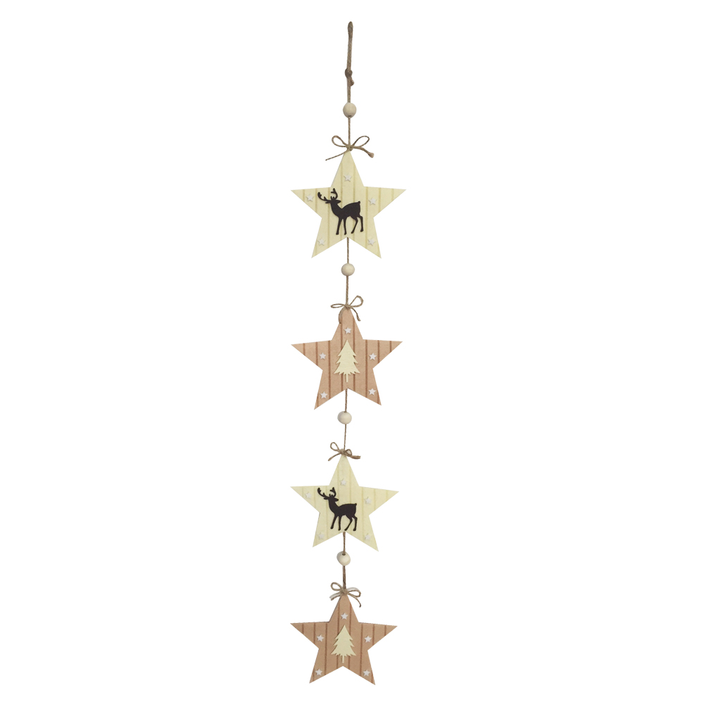 Christmas Star Shape Wall Sign Ornaments