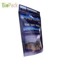 Compostable Side Gusset Top Pet Food Packaging Bag 5~10kg in PLA Material