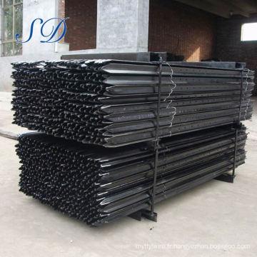 Clôture de piquet de poteaux en acier en métal utilisée par ferme portative pour vendre