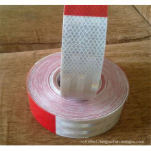 Reflective tape red and white stripe sticker back-adhesive