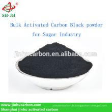 Poudre noire de charbon actif en vrac pour l'industrie du sucre