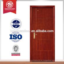 Diseños de madera sólida de la puerta de China, precio rasante de la puerta