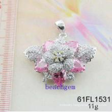 CZ Silver Jewelry Pendant (61FL1531)