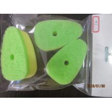 Almofada de limpeza cor verde para cozinha