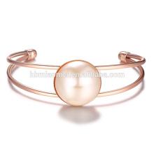 Nueva venta de estilo de moda vintage declaración mujer rosa pulsera de oro