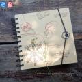 Landscape Elastic Closure Kraft Paper Spiral Notebook