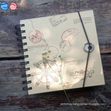 Landscape Elastic Closure Kraft Paper Spiral Notebook