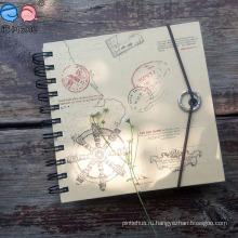 Пейзаж Упругое закрытие Крафт-бумага Спиральный блокнот