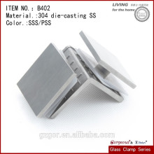 304 Stainless Steel Glass Shelf Clamp 90 degree glass to glass clamp