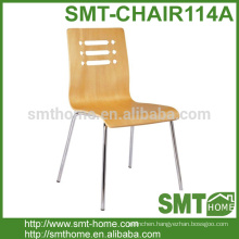 Hot sale Stackable Wooden Cafe Chair Design With Steel Legs