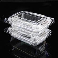 Récipient en plastique clair en gros adapté aux besoins du client d'emballage alimentaire de fruit avec le couvercle