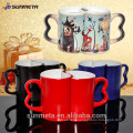 Sublimation lovers Mug with hot water will change color made in YIWU