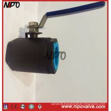 Forged Steel 2-PCS Floating Threaded Ball Valve